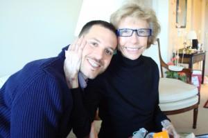 Jeff with Grandma Cataldi, our prayer warrior.